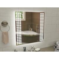 Квадратное зеркало с подсветкой для ванной Терамо 100x100 см