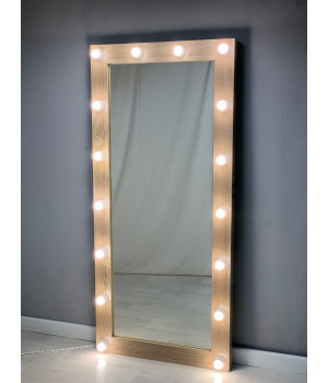 Зеркало для гримерки и шоу-рума с подсветкой 175х80 дуб
