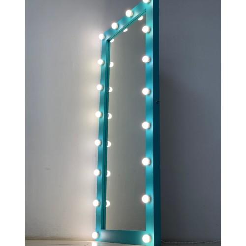 Бирюзовое гримерное зеркало из массива дерева 180 на 80