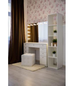 Гримерный столик  80х120 с зеркалом и подсветкой 80х120
